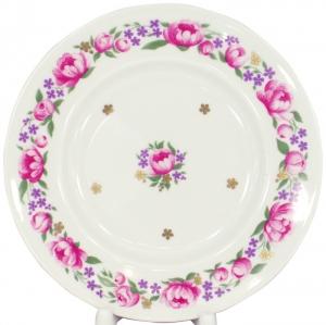 Lomonosov Imperial Porcelain Cake Dessert Plate Romantic Date 7