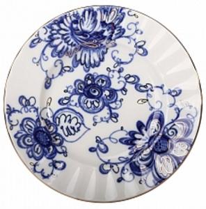 Lomonosov Imperial Porcelain Cake Dessert Plate Singing Garden 7