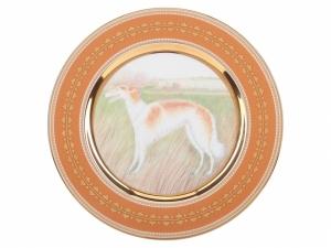 Lomonosov Porcelain Decorative Wall Plate Borzoi Greyhound