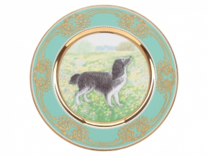 Lomonosov Porcelain Decorative Wall Plate Spaniel Dog