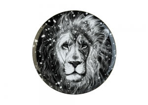 Lomonosov Porcelain Decorative Wall Plate Totem Animal Lion 11.8 in 300 mm