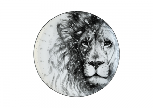 Lomonosov Porcelain Decorative Wall Plate Totem Animal Lion 9.1 in 230 mm