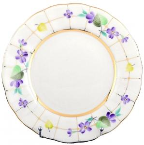 Lomonosov Imperial Porcelain Dessert Plate Forest Violets 5.9