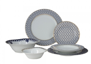 Lomonosov Porcelain Dining Set Service Salamander 22 items for 6 people