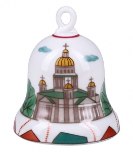 Lomonosov Imperial Porcelain Dinner Bell Saint Isaac's Square