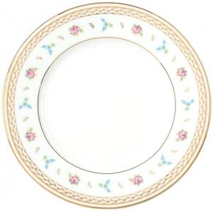 Lomonosov Imperial Porcelain Dinner Plate Flower Waltz 7.9