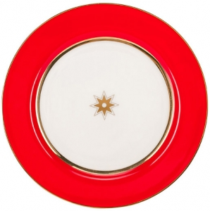 Lomonosov Imperial Porcelain Dinner Plate Scarlet 7.9 in 200 mm