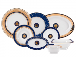 Lomonosov Porcelain Dinner Set Moscow Stars 24 items European