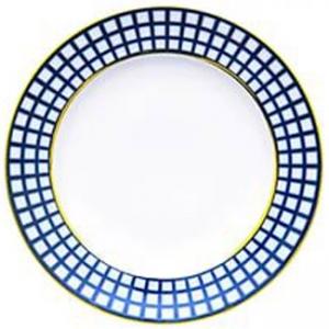 Lomonosov Imperial Porcelain Flat Dinner Plate Cobalt Cell 10.6