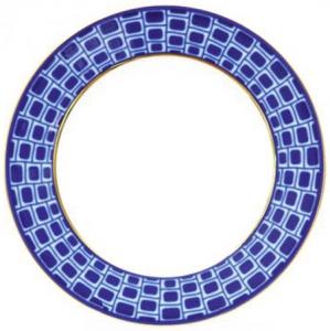 Lomonosov Imperial Porcelain Flat Plate Bridges of Saint-Petersburg