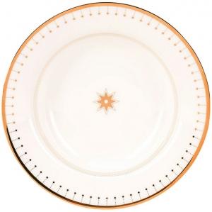 Lomonosov Imperial Porcelain Soup Dinner Plate Azur Golden 9.3