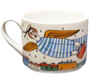 Lomonosov Imperial Porcelain Tea Cup City of Rains 9.5 oz/280 ml