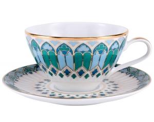 Lomonosov Porcelain Tea Set Cup and Saucer Grace Gothic