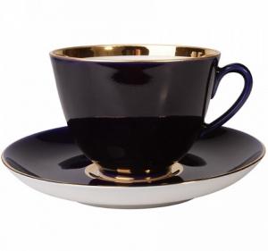 Lomonosov Imperial Porcelain Tea Set Cup and Saucer Spring Night 7.8 oz/230 ml