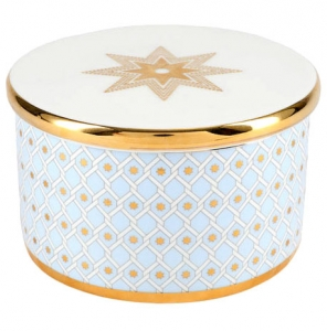 Lomonosov Porcelain Treasure Jewelry Box Azur
