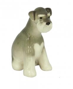 Miniature Schnauzer Dog Puppy Lomonosov Porcelain Figurine