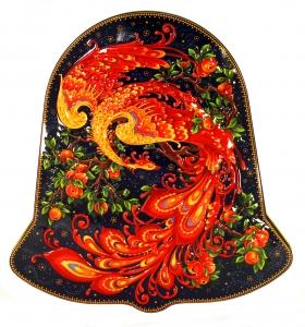 Black Tea 5.3 oz/150 gr in Metal Bell Box Palekh Painting Magic FIRE-BIRD