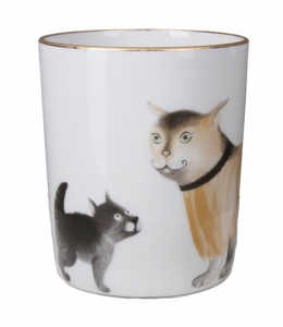 Lomonosov Imperial Porcelain Mug Friends Snowy Morning 12.8 fl.oz/380 ml
