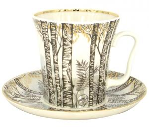 Lomonosov Imperial Porcelain Mug and Saucer Leningradskii Spring 12.2 fl.oz/360 ml