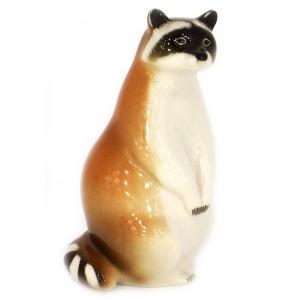 Raccoon Standing Lomonosov Imperial Porcelain Figurine