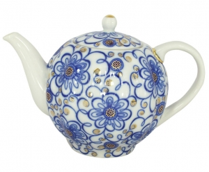 Lomonosov Imperial Porcelain Tea Pot Tulip Bindweed 3 Cups 20 oz/600 ml