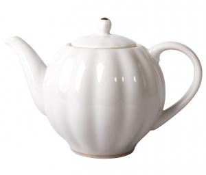 Lomonosov Imperial Porcelain Tea Pot Tulip Snow White 10 Cups 67 oz/2000 ml