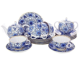 Lomonosov Imperial Porcelain Tea Set Tulip Bindweed 6/21