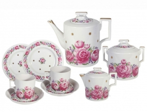 Lomonosov Imperial Porcelain Tea Set Romantic Date 6/20