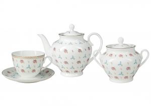 Lomonosov Imperial Porcelain Tea Set Spring-2 Flower Waltz 6/14
