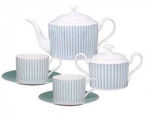 Lomonosov Imperial Porcelain Tea Set Tea Symphony 6/14