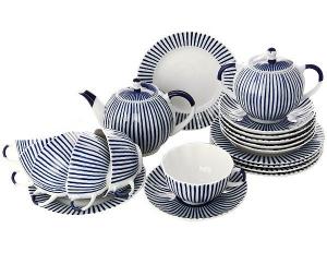 Lomonosov Imperial Porcelain Tea Set Tulip Frenchman 6/21