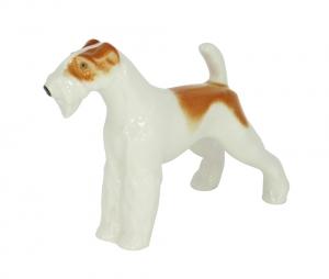 Terrier Dog Lomonosov Porcelain Figurine