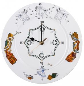 Wall Clock Ballet Giselle Lomonosov Imperial Porcelain