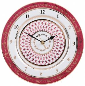 Wall Clock Red Net Lomonosov Imperial Porcelain