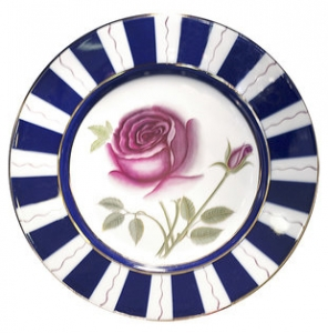 Decorative Wall Plate Rose Flower 9.4