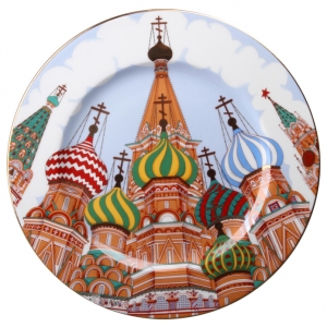 Decorative Wall Plate Russian Domes 10.4
