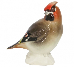 Waxwing Bird #2 Lomonosov Imperial Porcelain Figurine