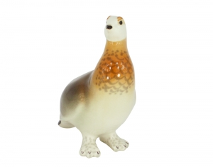Willow Grouse Bird Lomonosov Imperial Porcelain Figurine