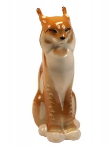 Lynx Bobcat Lomonosov Imperial Porcelain Figurine