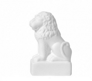 Bone China Collectible Porcelain Figurine Lion from Summer Garden