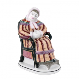 Imperial Porcelain Porcelain Figurine Gogol Dead Souls KOROBOCHKA