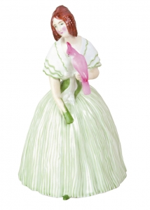 Imperial Porcelain Porcelain Figurine LADY WITH PARROT