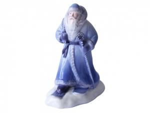 Lomonosov Porcelain Christmas New Year Figurine Blue Father Frost Santa Claus