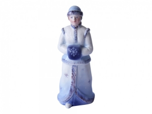 Lomonosov Porcelain Christmas New Year Figurine Blue Snow Maiden