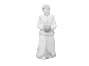Lomonosov Porcelain Christmas New Year Figurine White Snow Maiden