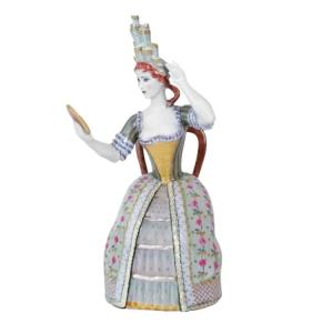 Lady with Mirror Figurine Lomonosov Imperial Porcelain