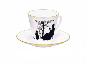 Bone China Cup and Saucer Family 2.71 fl.oz/80 ml