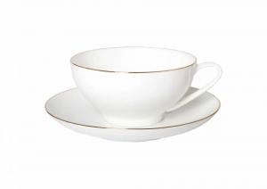 Lomonosov Porcelain Bone China Tea Set Dome Golden Ribbon 10 oz/300 ml