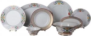 Lomonosov Porcelain Dinner Set Moscow River 23 pieces