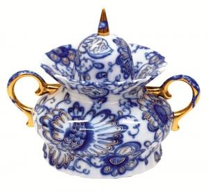 Lomonosov Imperial Porcelaine Sugar Bowl Singing Garden 20 fl.oz/600 ml